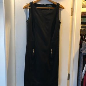 Lauren Ralph Lauren black dress with gold zippers